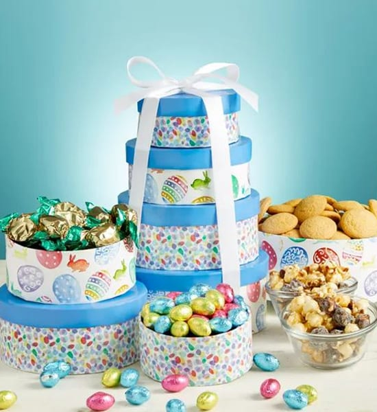 Eggstra Special Easter Sweets Tower Gift Basket