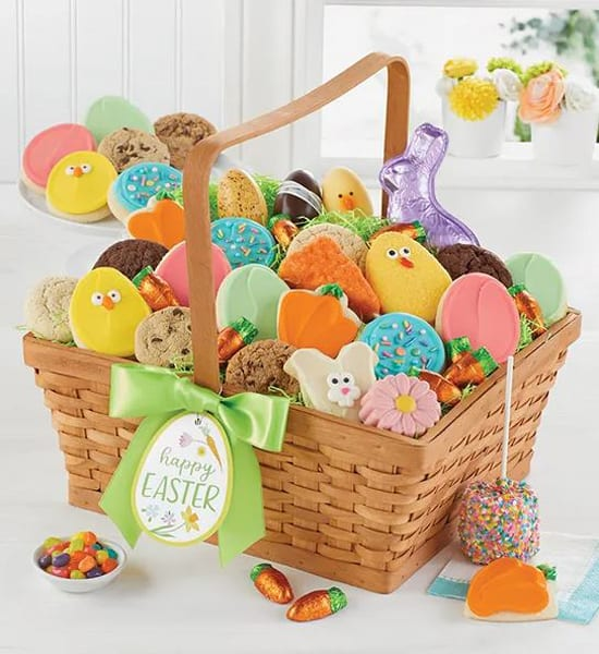 Hoppy Easter Frosted Bunny Cookies Gift Basket