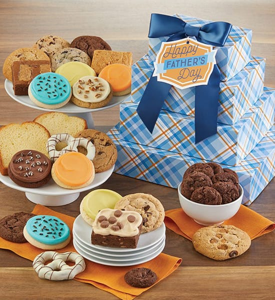 Father's Day Brownies and More Tower Gift Basket