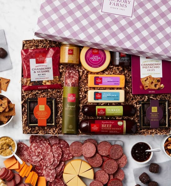 Hickory Farms Spring Charcuterie & Chocolate Gift Basket