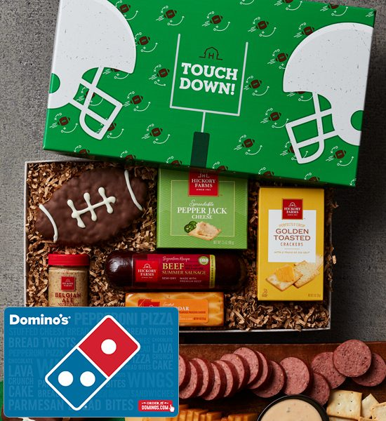 Domino's Hickory Farms Touchdown Treats Gift Card Basket